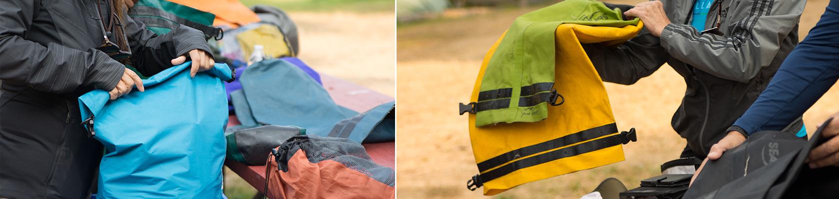 Packing Bags for kayaking
