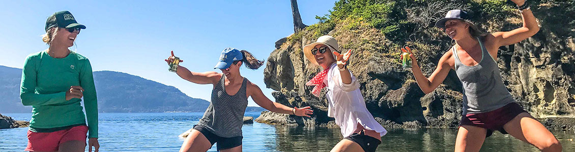 Kayakers having fun