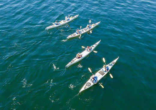 Sea kayakers in Haro Strait