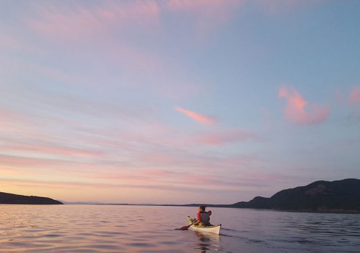 Sunset kayaking in the San Juan Islands