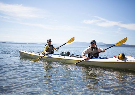 Women sea kayakers