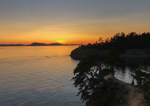Sunset in the San Juan Islands