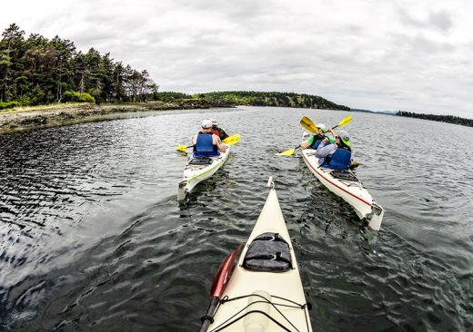 Sea kayaking in the Salish Sea