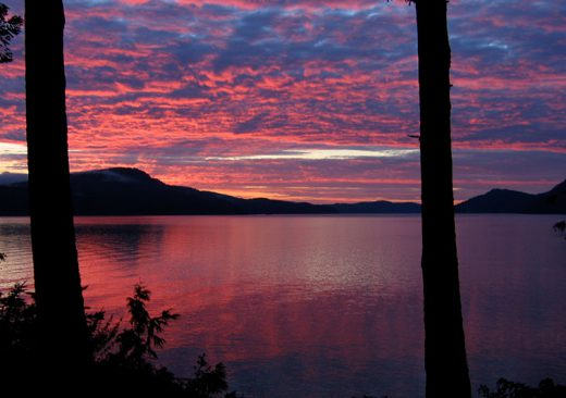 Sunset in the San Juan Islands